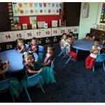 Inka Bause und Heike Kunze besuchen den INKA Kindergarten 2017.