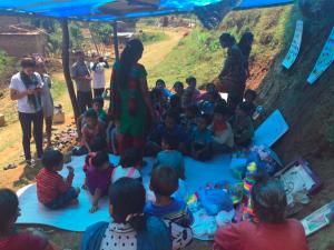 Kavrepalnchowk: Der Unterricht wird unter provisorischen Bedingungen fortgesetzt