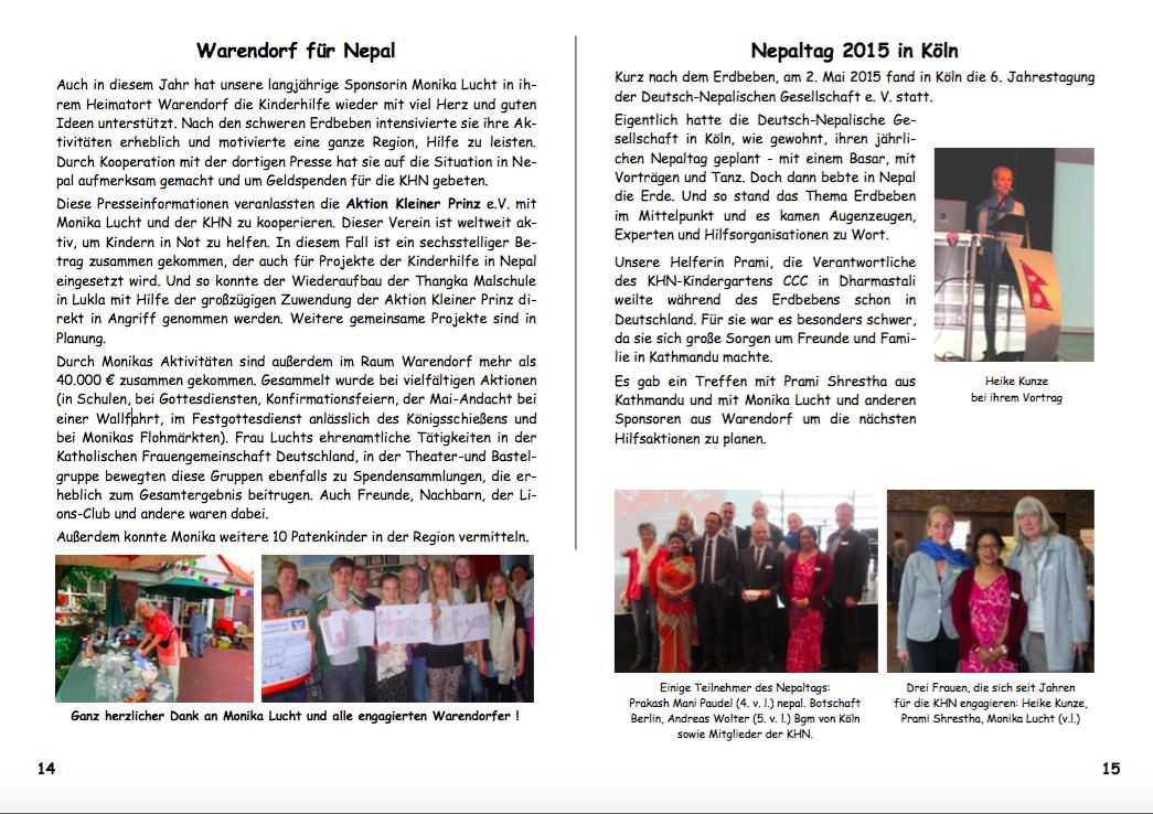 Jahresbericht 2015 Seiten 14|15