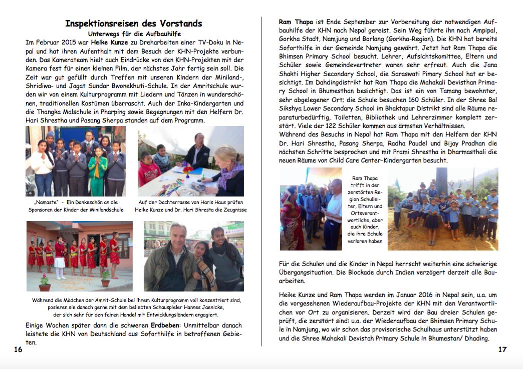 Jahresbericht 2015 Seiten 16|17