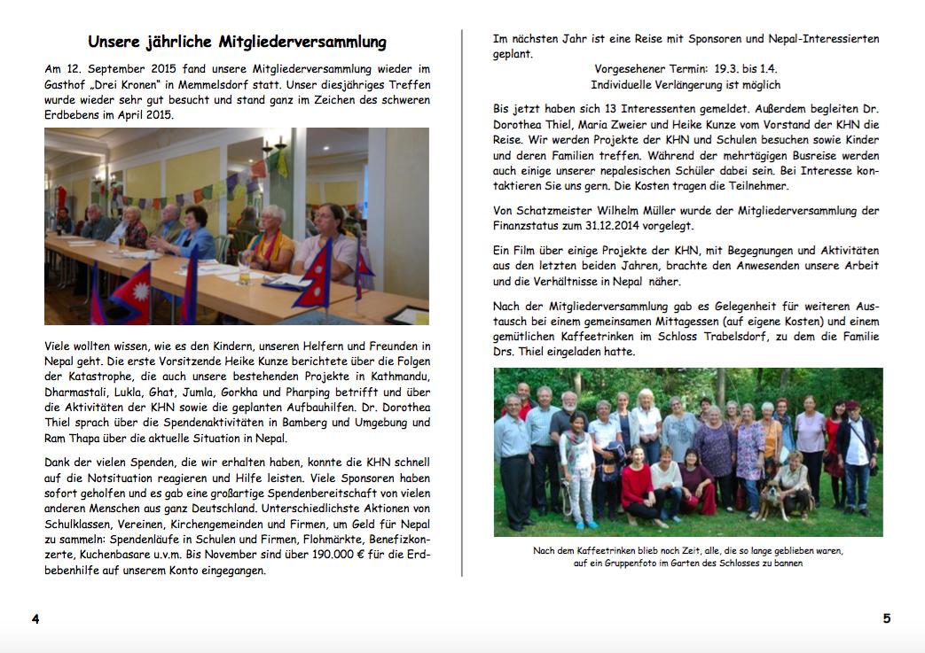 Jahresbericht 2015 Seiten 4|5