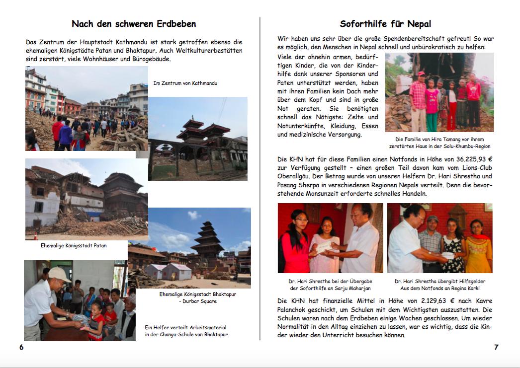 Jahresbericht 2015 Seiten 6|7