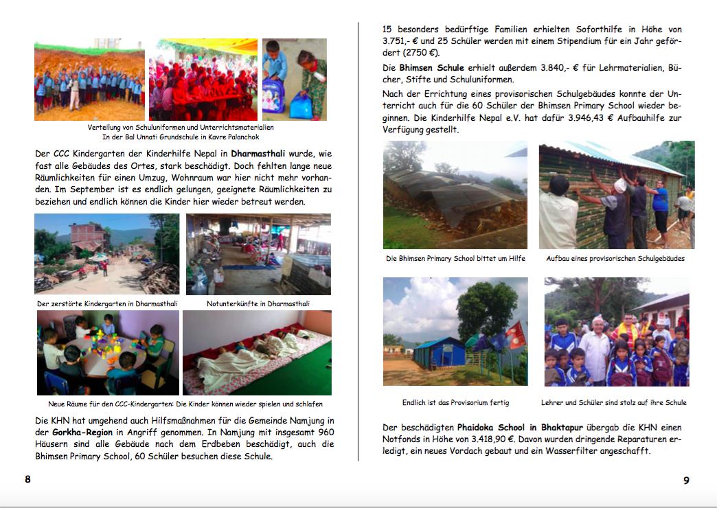 Jahresbericht 2015 Seiten 8|9