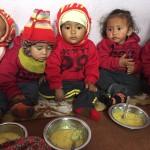Kindergarten Dharmastali im Januar 2016