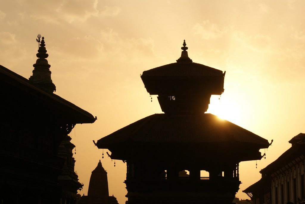 Nepal bei Sonnenuntergang